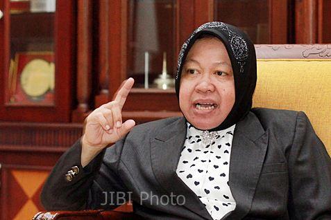 Wali Kota Surabaya Tri Rismaharini. - Bisnis
