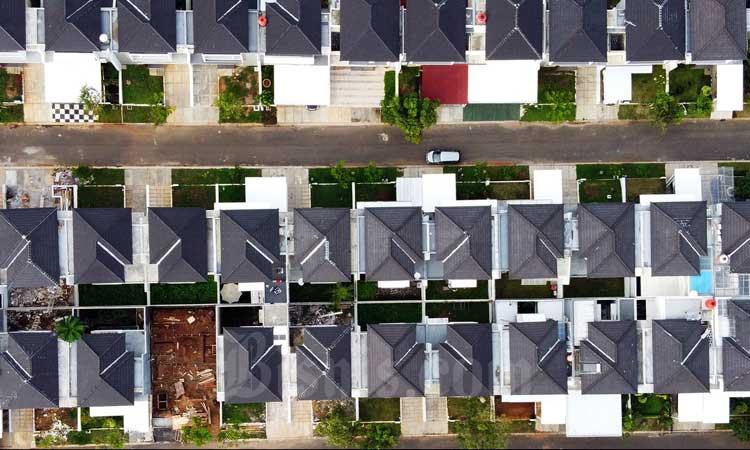 Ilustrasi foto udara kawasan perumahan./Bisnis - Triawanda Tirta Aditya