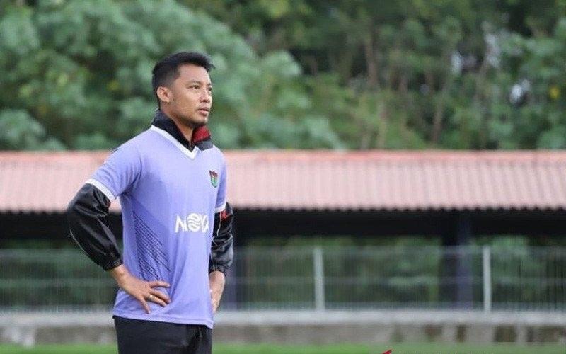 Salah satu pemain Persita, Hamka Hamzah - Antara