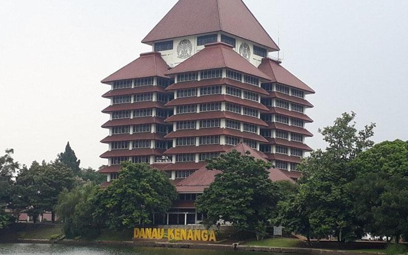 Gedung Rektorat Universitas Indonesia. UI berada di peringkat 47 dunia dalam pemeringkatan Times Higher Education (THE) 2020. Delapan perguruan tinggi Indonesia lainnya menempati posisi membanggakan. - Antara/Feru Lantara