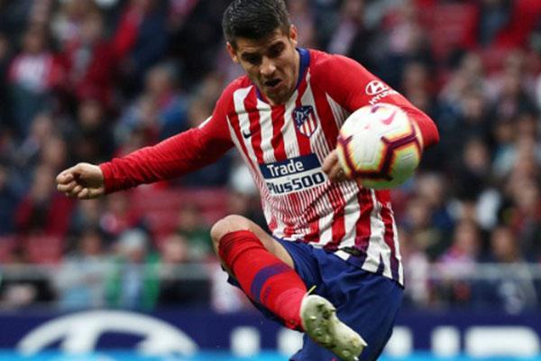Penyerang Atletico Madrid Alvaro Morata - Reuters/Sergio Perez