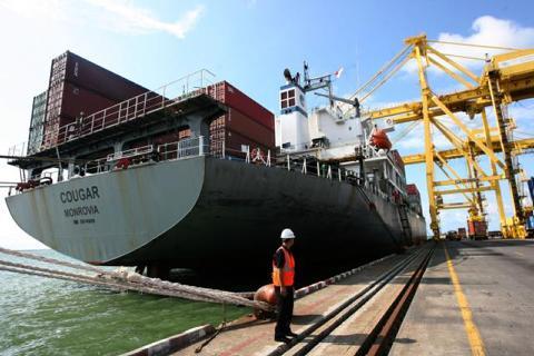 Ilustrasi Pelabuhan Semarang.