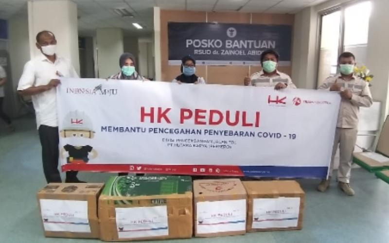 Hutama Karya salurkan ribuan APD di Jakarta dan Sumatra untuk bantu pencegahan Covid-19 - istimewa