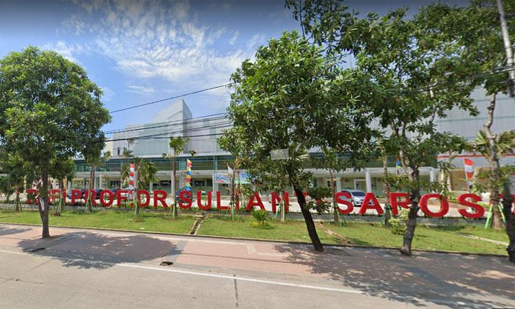 Gerbang pintu masuk Rumah Sakit Penyakit Infeksi (RSPI) Sulianti Saroso di Sunter Jakarta Utara. Foto: Google Streets, April 2019n