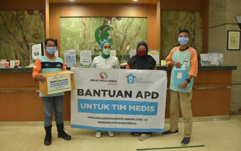 Sebagai bentuk pelaksanaan Corporate Social Responsibility (CSR) PT. Migas Hulu Jabar Offshore North West Java (MUJ ONWJ) turut andil dalam penanganan wabah Covid/19.