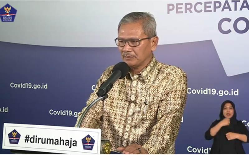 Juru Bicara Pemerintah untuk penanganan Covid-19 Achmad Yurianto memaparkan informasi terkini kasus Covid-19 di Indonesia, Jumat (24/4/2020) - Youtube/BNPB