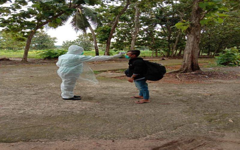 Warga OKI yang menjadi ODP menjalani isolasi di ODP Center Teluk Gelam. istimewa