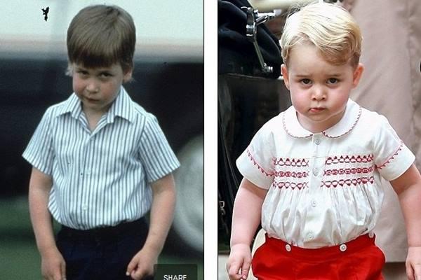 Pangeran william (kiri) dan Pangeran George (kanan) - dailymail