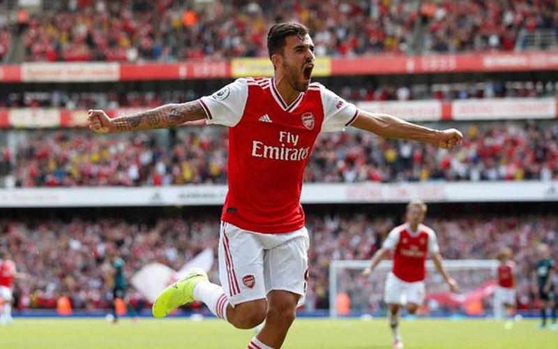 Gelandang Arsenal Dani Ceballos - Reuters