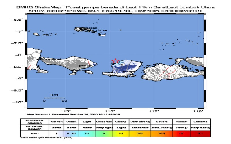 Gempa Lombok - BMKG