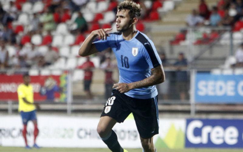Nicolas Schiappacasse ketika tampil bersama Timnas Uruguay U-20. - Transfermarkt