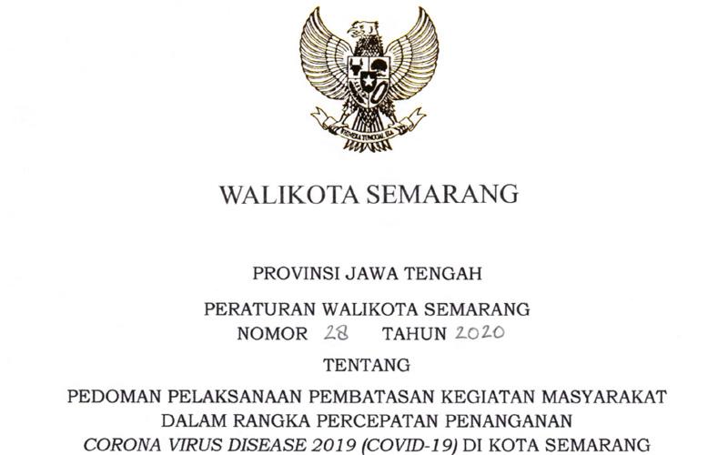 Peraturan Wali Kota Semarang No.28 - 2020