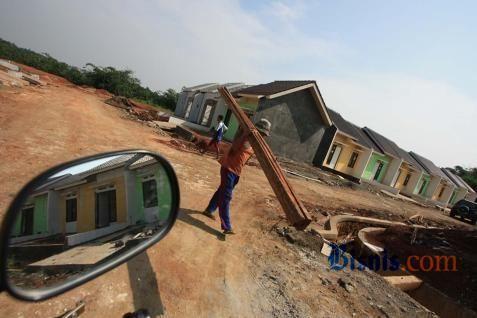 Pembangunan rumah bersubsidi. - Bisnis
