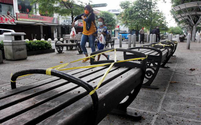 Suasana Malioboro Kota Jogjakarta terlihat sepi pada Selasa (21/04/2020). - Harian Jogja/Desi Suryanto