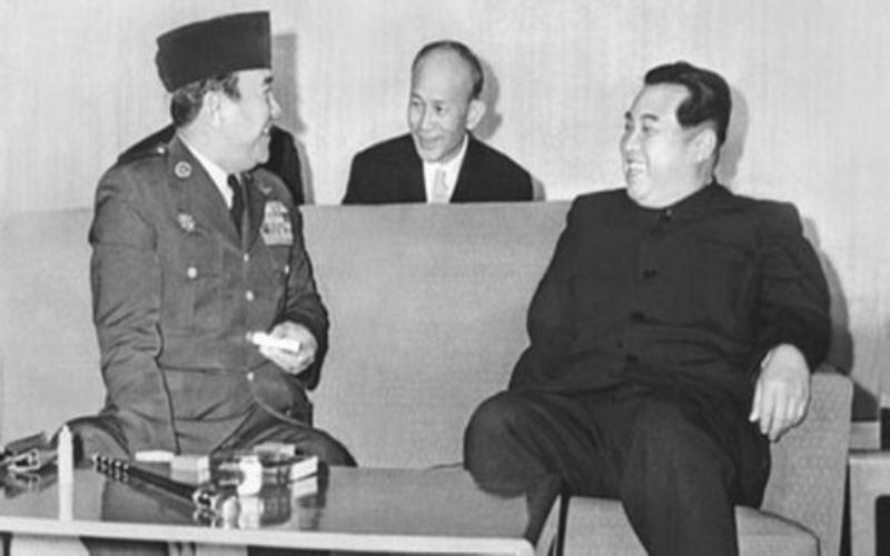 Presiden Soekarno (kiri) dan Kim Il-sung. - Istimewa