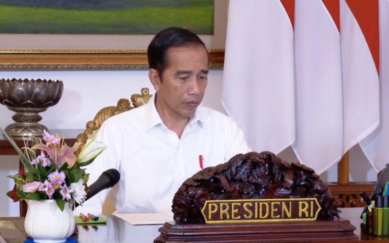 Presiden Joko Widodo membuka rapat terbatas Antisipasi Kebutuhan Bahan Pokok melalui video conference dari Istana Bogor, Selasa (28/4 - 2020) / Sekretariat Presiden.