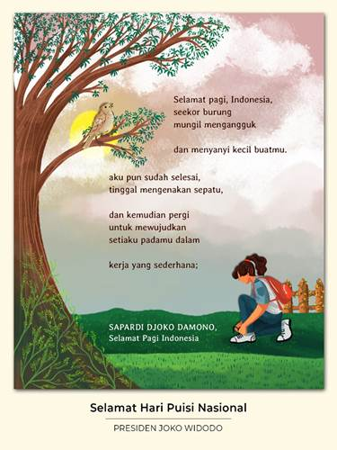 Kutipan puisi Sapardi Joko Damono di twitter Presiden Joko Widodo