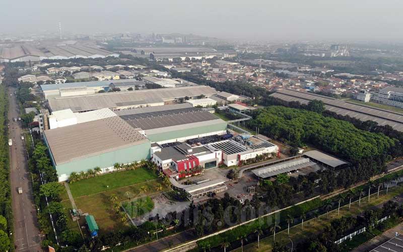 Foto aerial kawasan industri MM2100 di Cikarang, Jawa Barat, Rabu (15/4/2020). - Bisnis/Himawan L. Nugraha