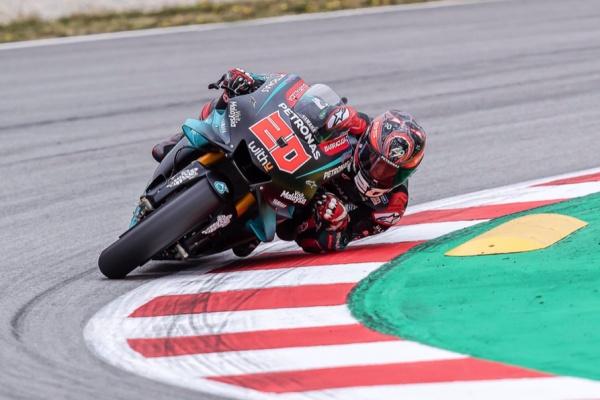 Pembapal MotoGP Fabio Quartararo saat bertarung untuk Petronas Yamaha SRT - Twitter