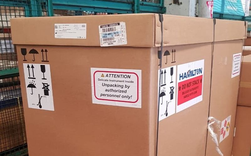 Ilustrasi: Alat tes PCR dari Roche Swiss telah tiba di Indonesia. - Twitter Agus Wibowo