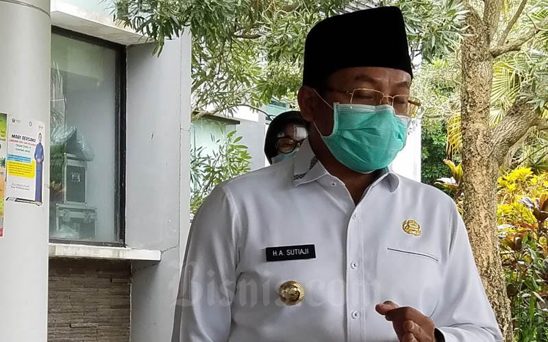 Wali Kota Malang Sutiaji usai membahas dampak ekonomi Corona pada Rabu (1/4/2020). - Bisnis/Choirul Anam
