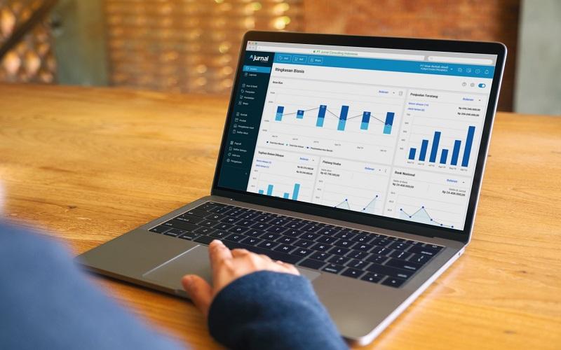 Jurnal yaitu software akuntansi berbasis cloud.