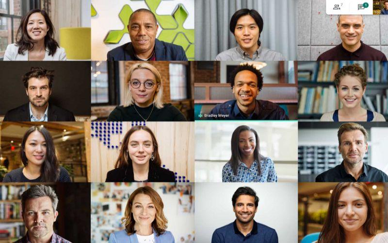 Google Meet rilis tampilan dengan 16 peserta sekaligus dalam satu layar. - ANTARA  - cloud.google.com