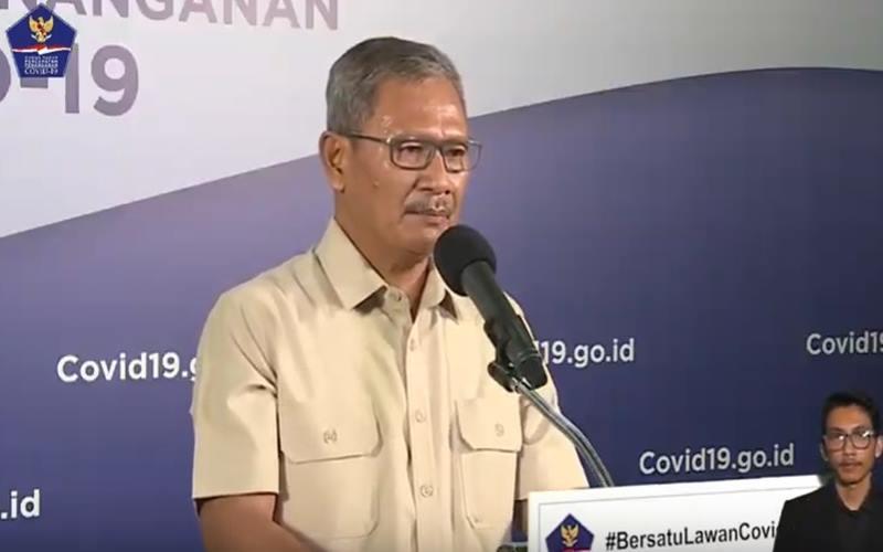 Juru Bicara pemerintah untuk penanganan Covid-19 Achmad Yurianto. - Bisnis/Nancy Junita
