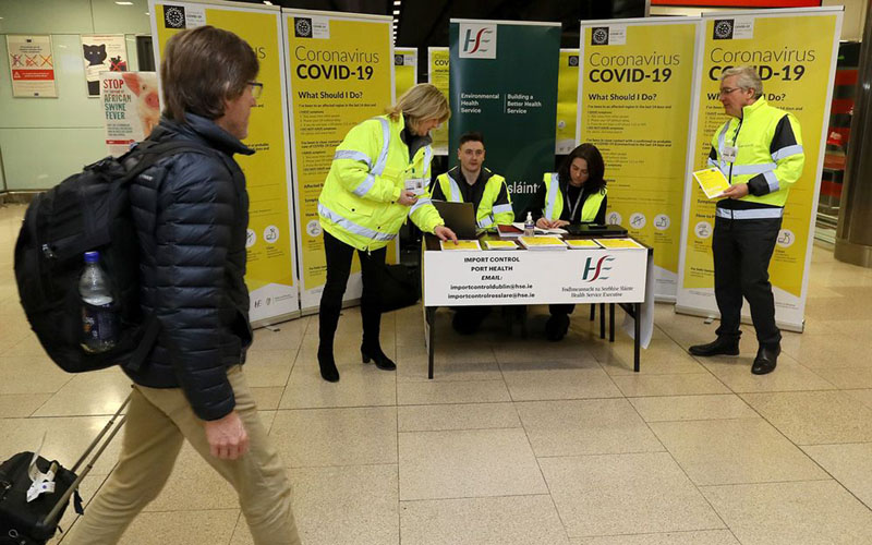 Suasana di Bandara Internasional Dublin, ibu kota Republik Irlandia, di tengah pandemi Covid-19. - Bloomberg