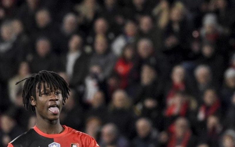 Pemain Stade Rennes Eduardo Camavinga./Antara - AFP