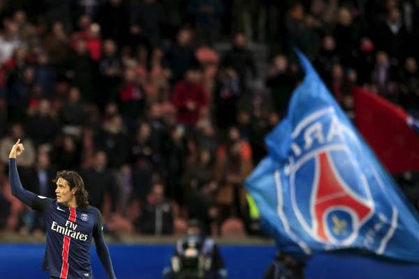 Penyerang Paris Saint-Germain Edinson Cavani. - Reuters/Pascal Rossignol