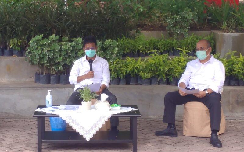 Ketua Tim Gugus Tugas Percepatan Penanganan Covid-19 Kota Batam, Muhammad Rudi. - Bisnis/Bobi Bani.