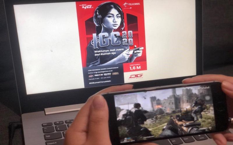 Gamers sedang bermain Gim secara daring. - Dok: IGC 2020