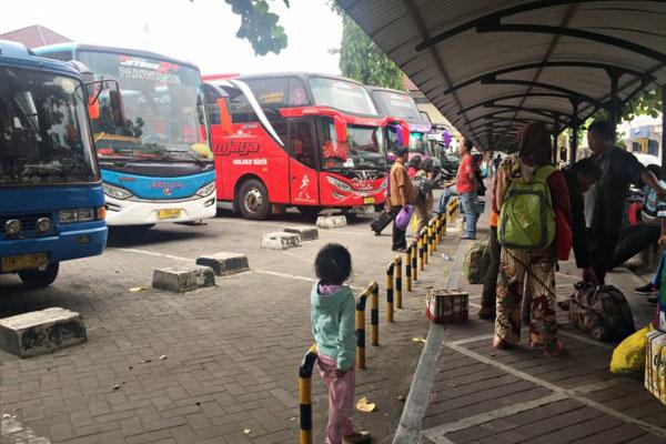 Terminal Giwangan Yogyakarta. - Antara/Eka Arifa Rusqiyati
