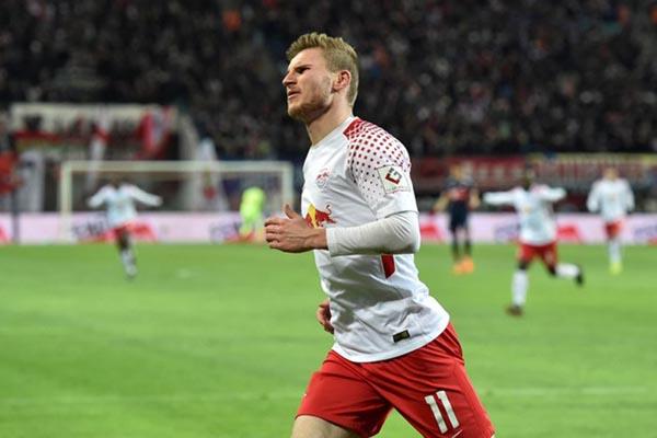 Penyerang RB Leipzig Timo Werner - Reuters/Matthias Rietschel
