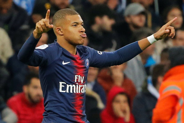 Penyerang Paris Saint-Germain Kylian Mbappe - Reuters/Jean-Paul Pelissier