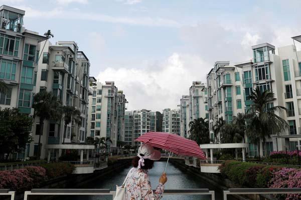 Deretan properti mewah di Singapura. - Reuters