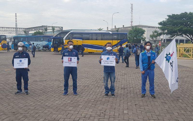 Kampanye Aktivitas Pencegahan COVID19 oleh Serikat Kerja PT Krakatau Posco - Dokumen Perusahaan