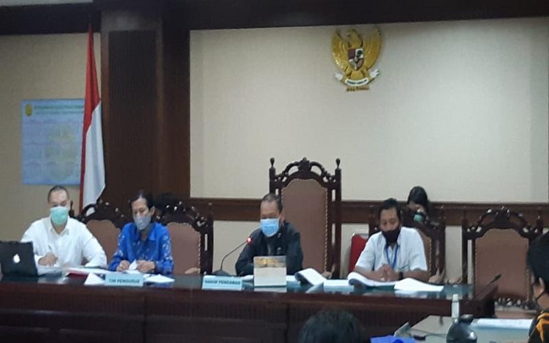 Suasana di dalam ruang persidangan Pengadilan Negeri Jakarta Pusat.