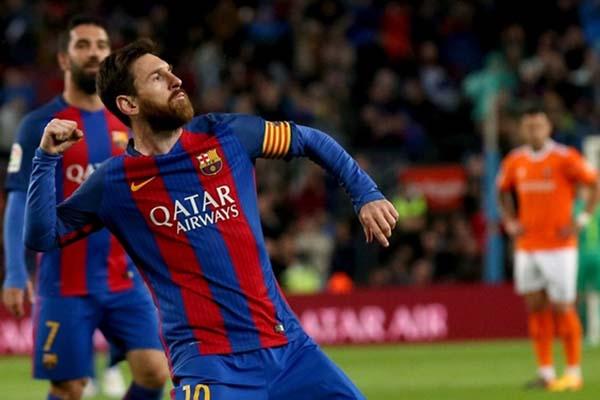 Lionel Messi pemain terbaik dunia 2019./Reuters - Albert Gea