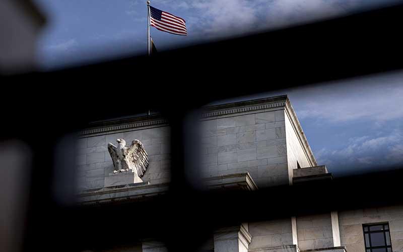 Gedung bank central Amerika Serikat atau The Federal Reserve di Washington, Amerika Serikat, Rabu (31/7/2019). Bloomberg - Andrew Harrer