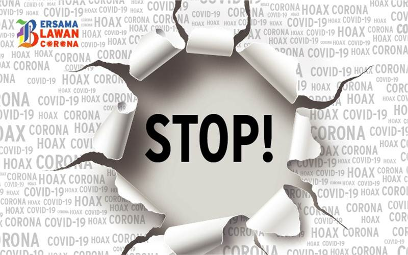 Poster Bersama Lawan Corona_Stop Hoax. Rumah Sakit Bergerak Badau melakukan langkah hukum atas hoaks yang menyebutkan adanya bocah 10 tahun yang meninggal di rumah sakit tersebut dan tidak bisa di bawa pulang keluarganya.