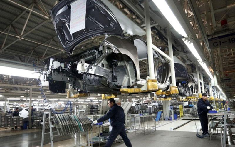 Pabrik Hyundai, industri otomotif Korea Selatan, di Beijing, China./Bloomberg - Tomohiro Ohsumi