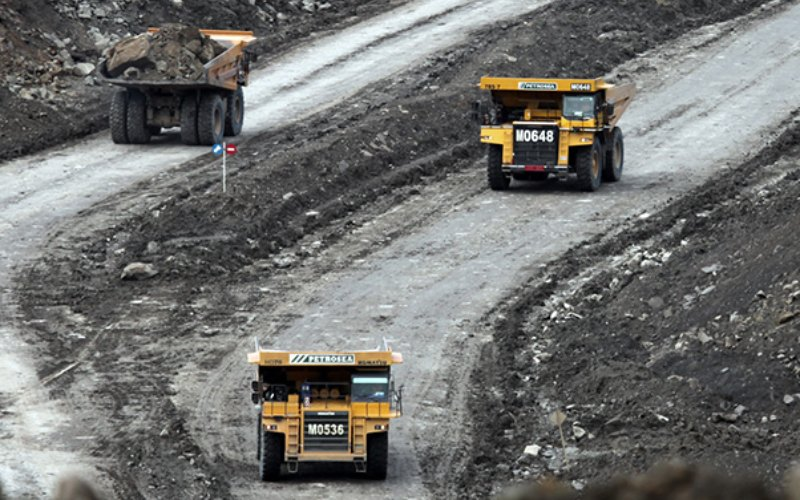 Aktivitas kontrak pertambangan PT Petrosea Tbk. Anak usaha Indika Energy ini memiliki pengalaman 48 tahun di bidang kontraktor pertambangan. - petrosea.com