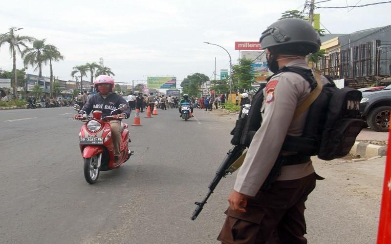 Pengamanan PSBB Gowa - Istimewa