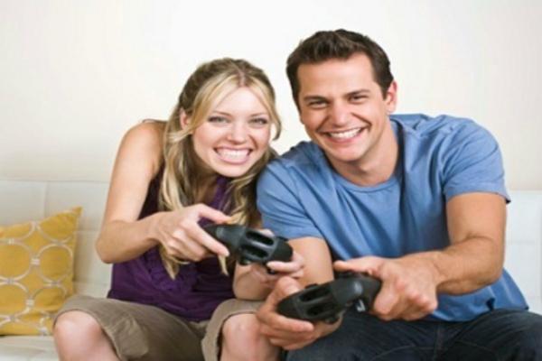 Bermain video game - Ilustrasi