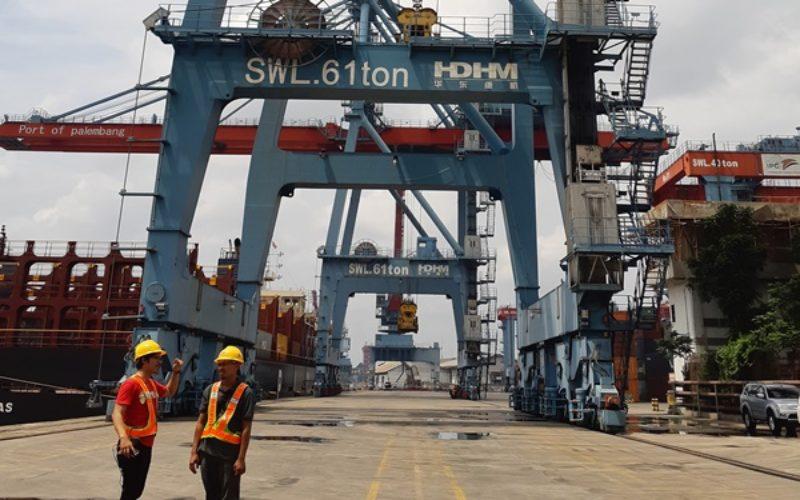 Pelabuhan Boom Baru Palembang yang dikelola oleh PT Pelindo II (Persero) atau IPC Cabang Palembang. Bisnis / Dinda Wulandari