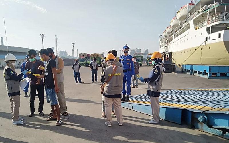 Para TKI atau PMI yang mudik via Pelabuhan Tanjung Emas Semarang