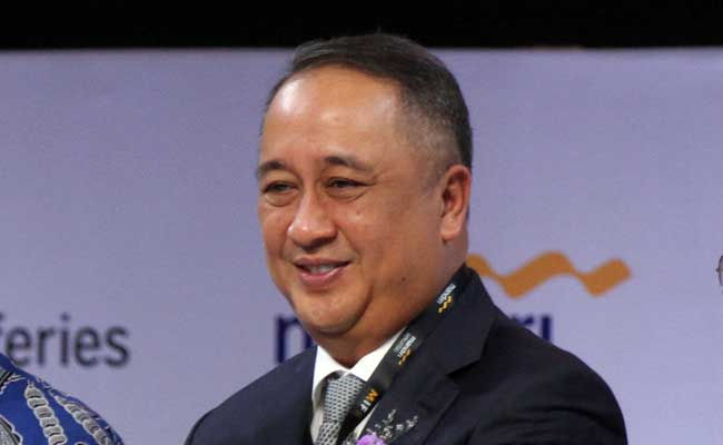 Direktur Utama PT Bank Mandiri (Persero) Tbk. Royke Tumilaar. Bisnis - Arief Hermawan P