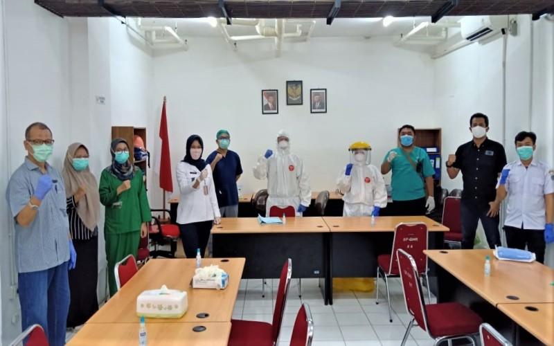 Tim Gugus Tugas Percepatan Penanganan Covid-19, Apartemen Gading Nias Residences Jakarta Utara siap mencegah masuknya virus corona di lingkungan apartemen tersebut. - Bisnis